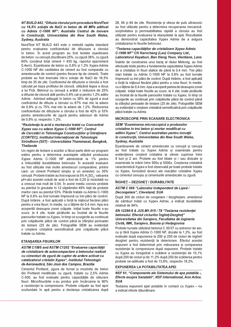 Pagina 3 - Tratament chimic unic pentru impermeabilizarea, protectia si imbunatatirea calitatilor...