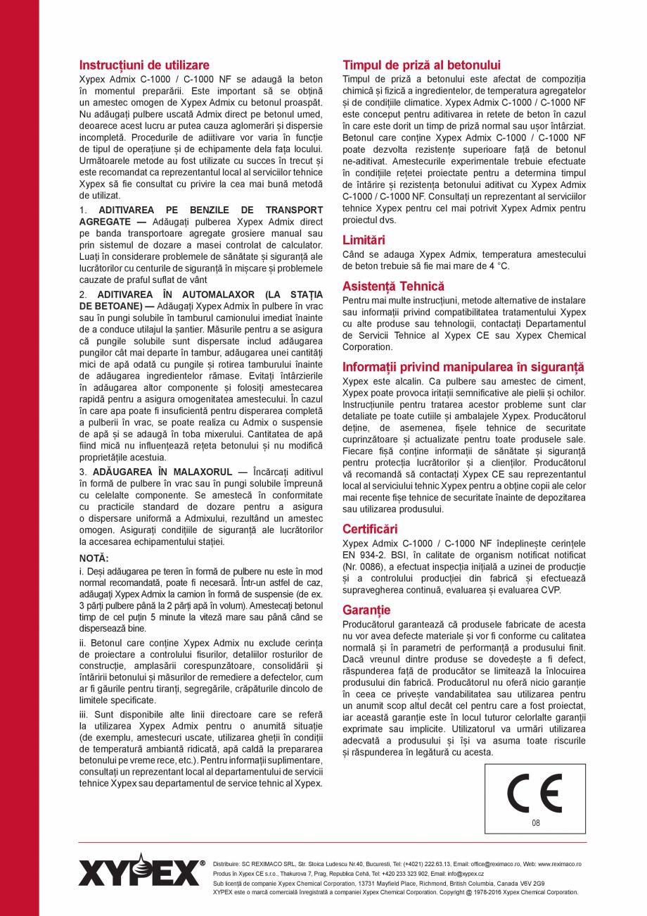 Pagina 4 - Tratament chimic unic pentru impermeabilizarea, protectia si imbunatatirea calitatilor...