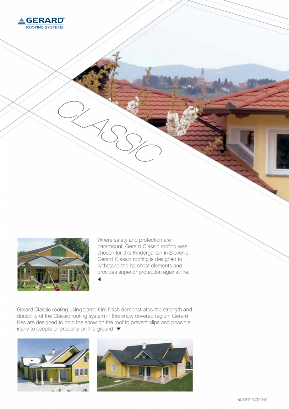 Catalog, brosura Invelitori din tabla tip tigla, cu acoperiri din piatra naturala SHAKE, MILANO, HERITAGE, CLASSIC, SHINGLE, DIAMANT GERARD Acoperis cu tigla metalica cu acoperire de piatra naturala FINAL DISTRIBUTION rd Heritage in Forest Green has complimented this grand old building in Bjelovar, Croatia.  HERITA ... - Pagina 10