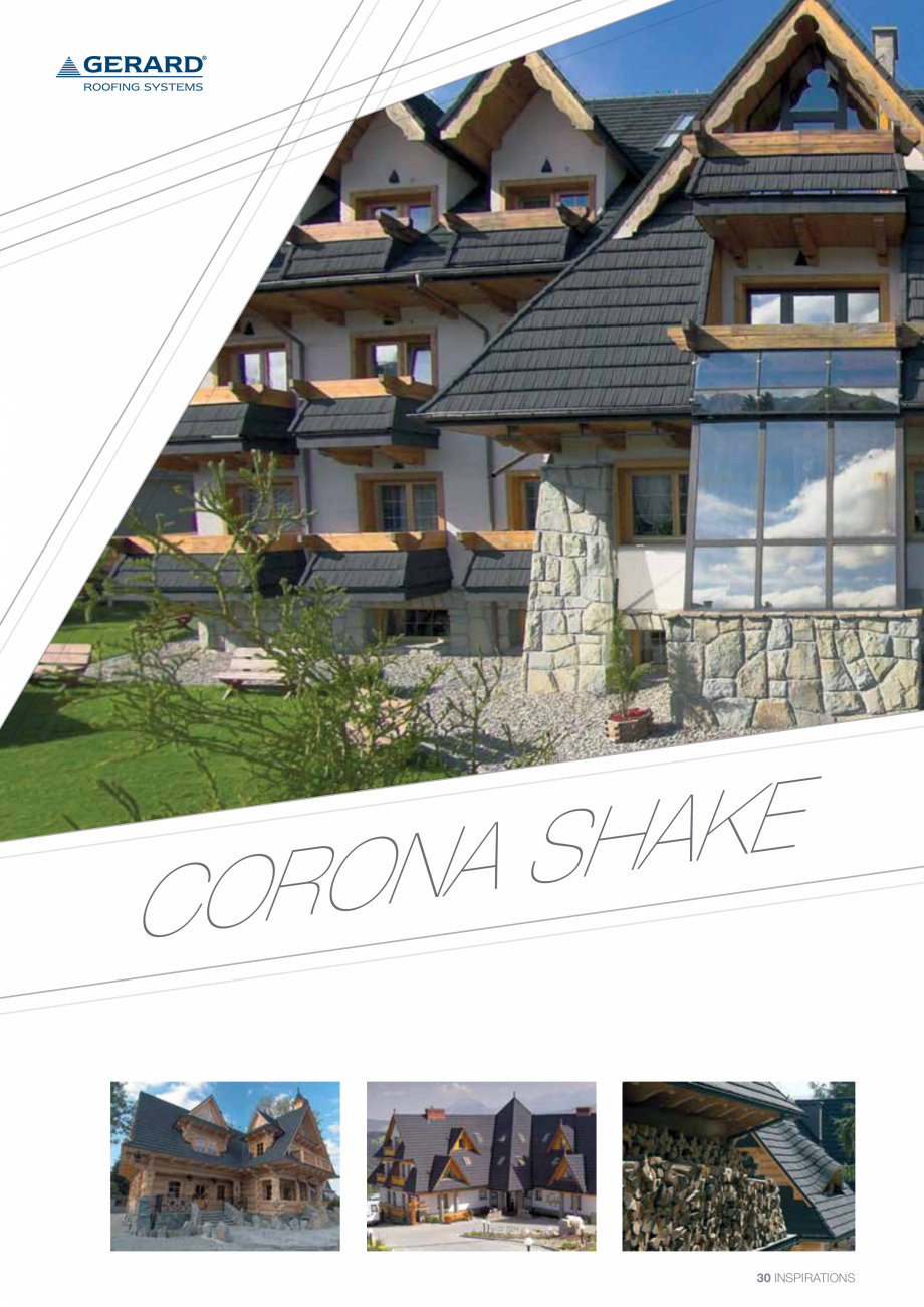 Catalog, brosura Invelitori din tabla tip tigla, cu acoperiri din piatra naturala SHAKE, MILANO, HERITAGE, CLASSIC, SHINGLE, DIAMANT GERARD Acoperis cu tigla metalica cu acoperire de piatra naturala FINAL DISTRIBUTION  - Pagina 30