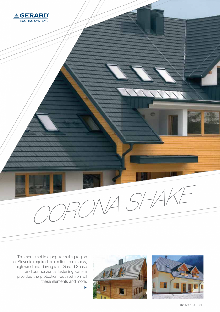 Catalog, brosura Invelitori din tabla tip tigla, cu acoperiri din piatra naturala SHAKE, MILANO, HERITAGE, CLASSIC, SHINGLE, DIAMANT GERARD Acoperis cu tigla metalica cu acoperire de piatra naturala FINAL DISTRIBUTION  - Pagina 32