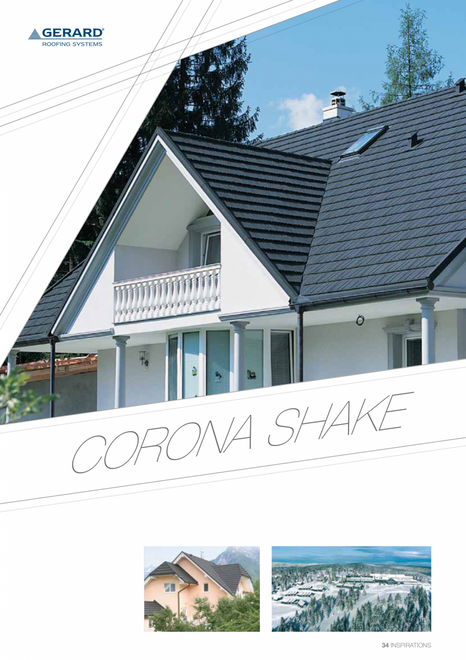 Catalog, brosura Invelitori din tabla tip tigla, cu acoperiri din piatra naturala SHAKE, MILANO, HERITAGE, CLASSIC, SHINGLE, DIAMANT GERARD Acoperis cu tigla metalica cu acoperire de piatra naturala FINAL DISTRIBUTION  - Pagina 34