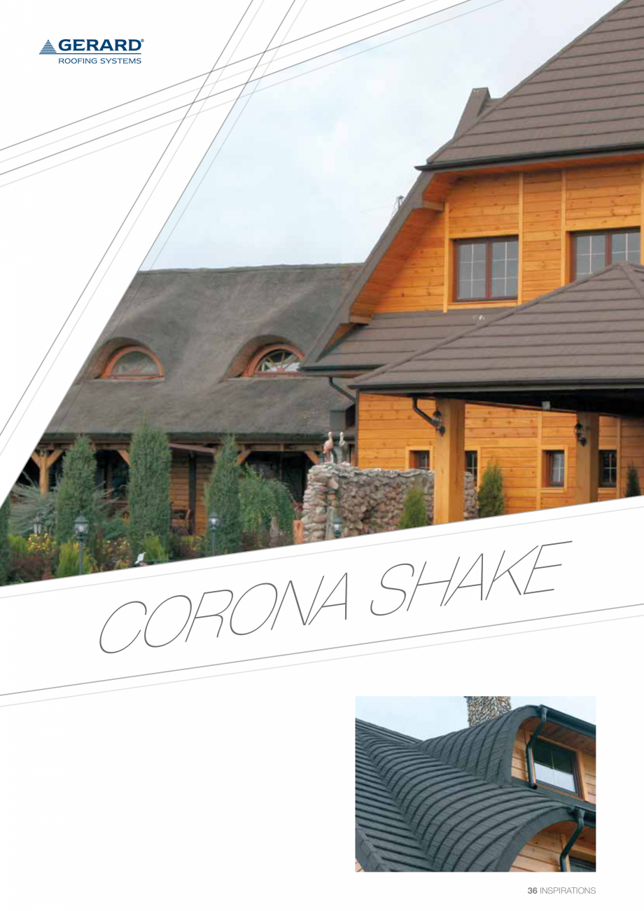 Catalog, brosura Invelitori din tabla tip tigla, cu acoperiri din piatra naturala SHAKE, MILANO, HERITAGE, CLASSIC, SHINGLE, DIAMANT GERARD Acoperis cu tigla metalica cu acoperire de piatra naturala FINAL DISTRIBUTION  - Pagina 36
