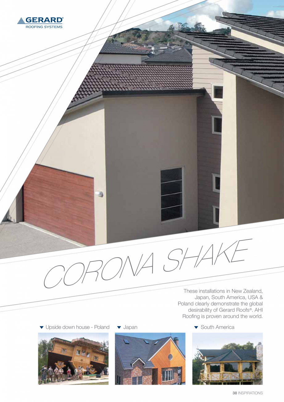 Catalog, brosura Invelitori din tabla tip tigla, cu acoperiri din piatra naturala SHAKE, MILANO, HERITAGE, CLASSIC, SHINGLE, DIAMANT GERARD Acoperis cu tigla metalica cu acoperire de piatra naturala FINAL DISTRIBUTION  - Pagina 38