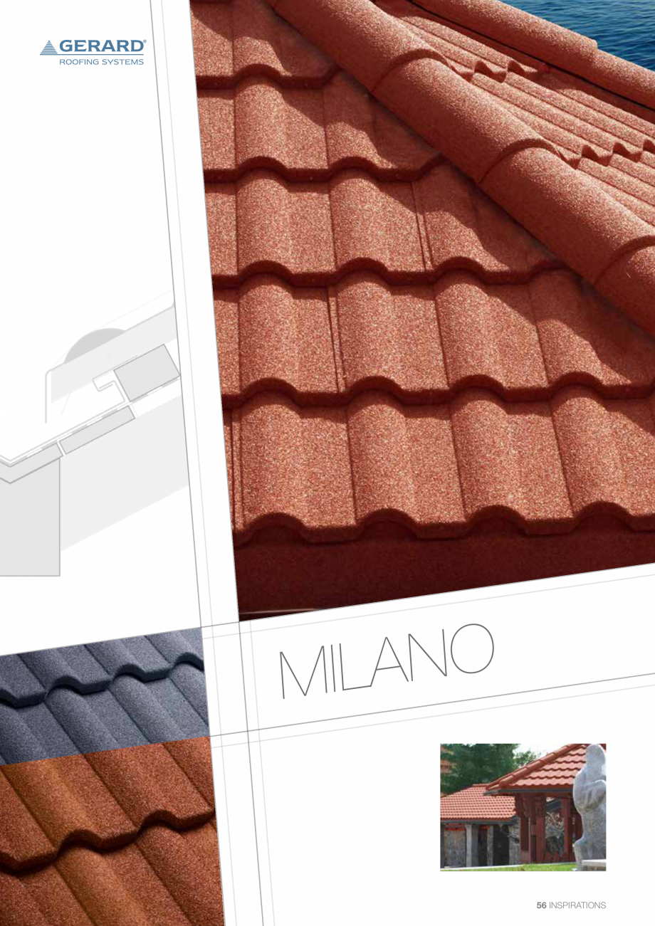 Catalog, brosura Invelitori din tabla tip tigla, cu acoperiri din piatra naturala SHAKE, MILANO, HERITAGE, CLASSIC, SHINGLE, DIAMANT GERARD Acoperis cu tigla metalica cu acoperire de piatra naturala FINAL DISTRIBUTION  - Pagina 56