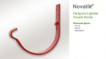 4. Carlig scurt jgheab RONDA Componente sistem pluvial (otel prevopsit)