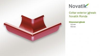 7. Coltar exterior jgheab RONDA Componente sistem pluvial (otel prevopsit)