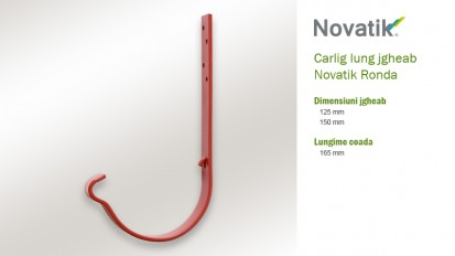 5. Carlig lung jgheab RONDA Componente sistem pluvial (otel prevopsit)