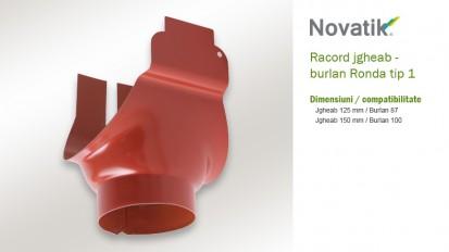9. Racord tip 1 RONDA Componente sistem pluvial (otel prevopsit)
