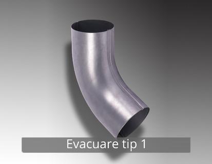 9. Evacuare tip 1 RONDA Componente sistem pluvial (TITAN - ZINC)