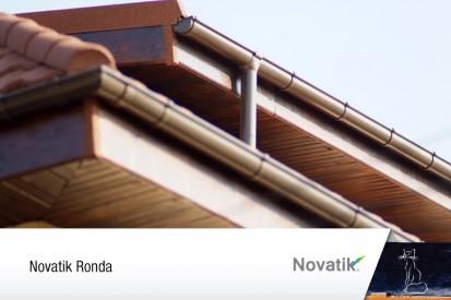 Novatik Ronda - sistem pluvial vazut de aproape RONDA QUADRA Sisteme de jgheaburi si burlane semirotunde