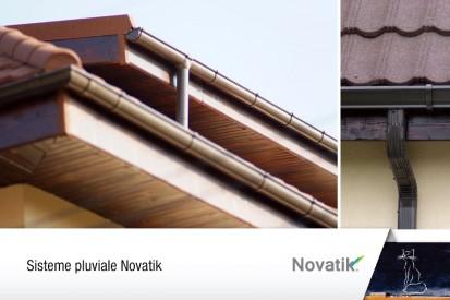 Sisteme pluviale Novatik vazute de aproape RONDA, QUADRA Sisteme de jgheaburi si burlane semirotunde si rectangulare