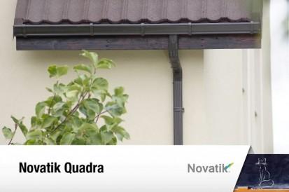 Sistem pluvial rectangular Novatik QUADRA RONDA, QUADRA Sisteme de jgheaburi si burlane semirotunde si rectangulare