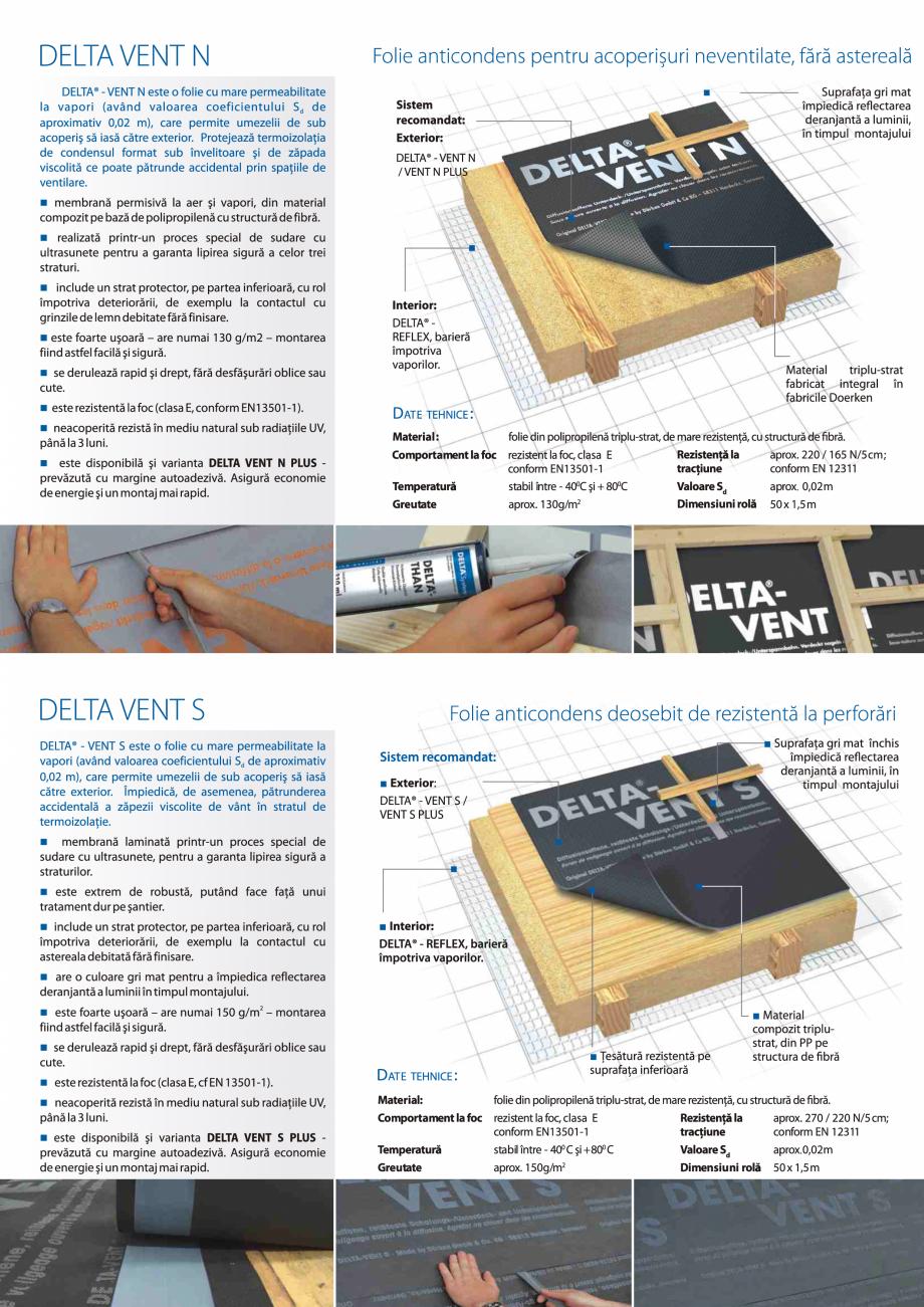 Pagina 2 - Folii anticondens pentru toate sistemele de acoperisuri DELTA VENT N, VENT S, FOXX, MAXX,...