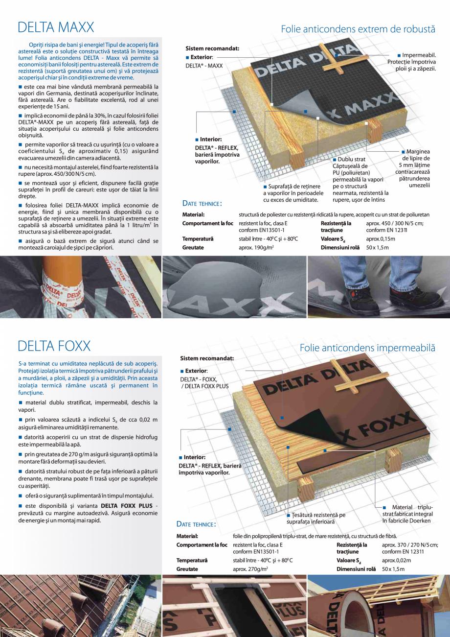 Pagina 3 - Folii anticondens pentru toate sistemele de acoperisuri DELTA VENT N, VENT S, FOXX, MAXX,...