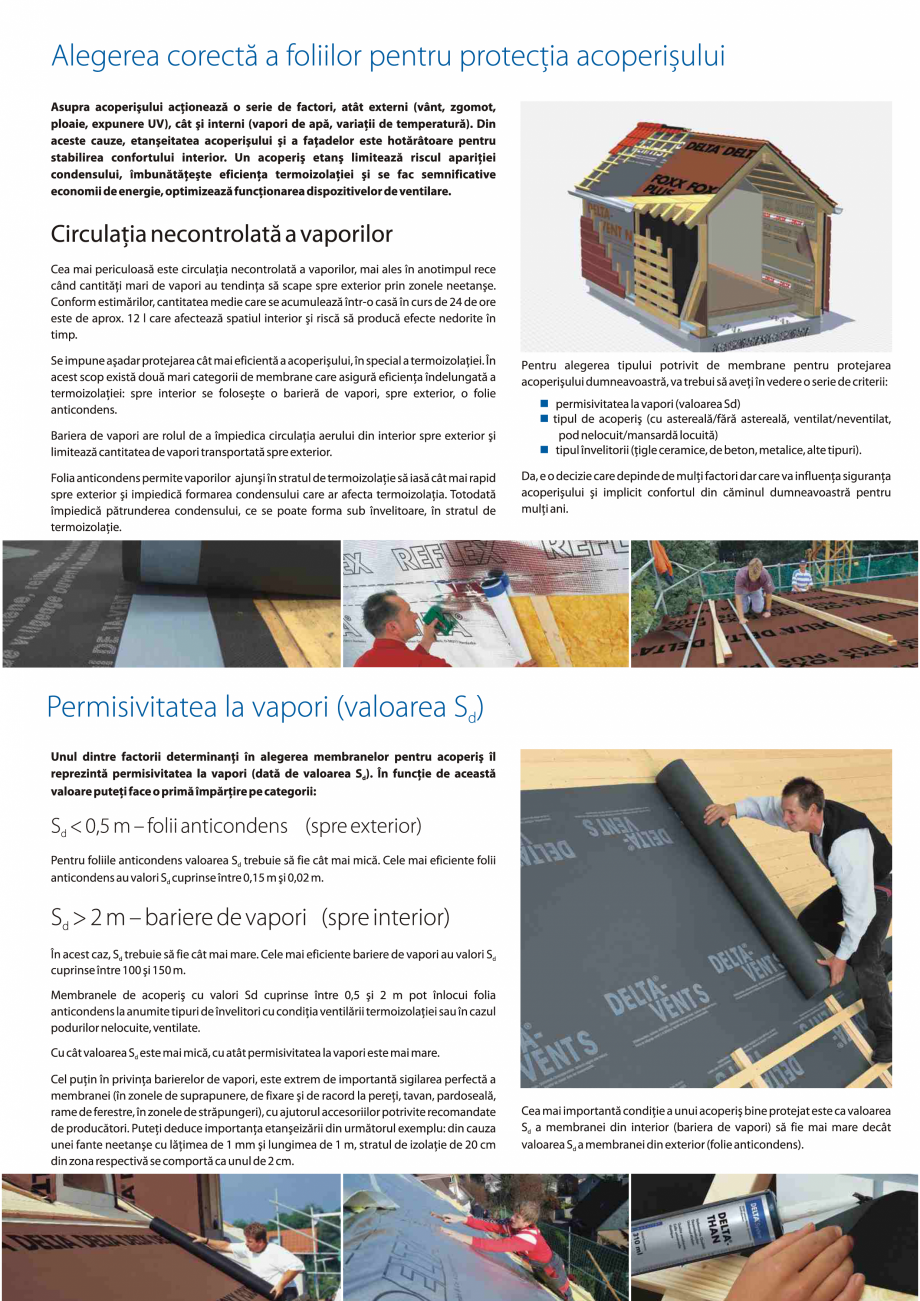 Pagina 5 - Folii anticondens pentru toate sistemele de acoperisuri DELTA VENT N, VENT S, FOXX, MAXX,...
