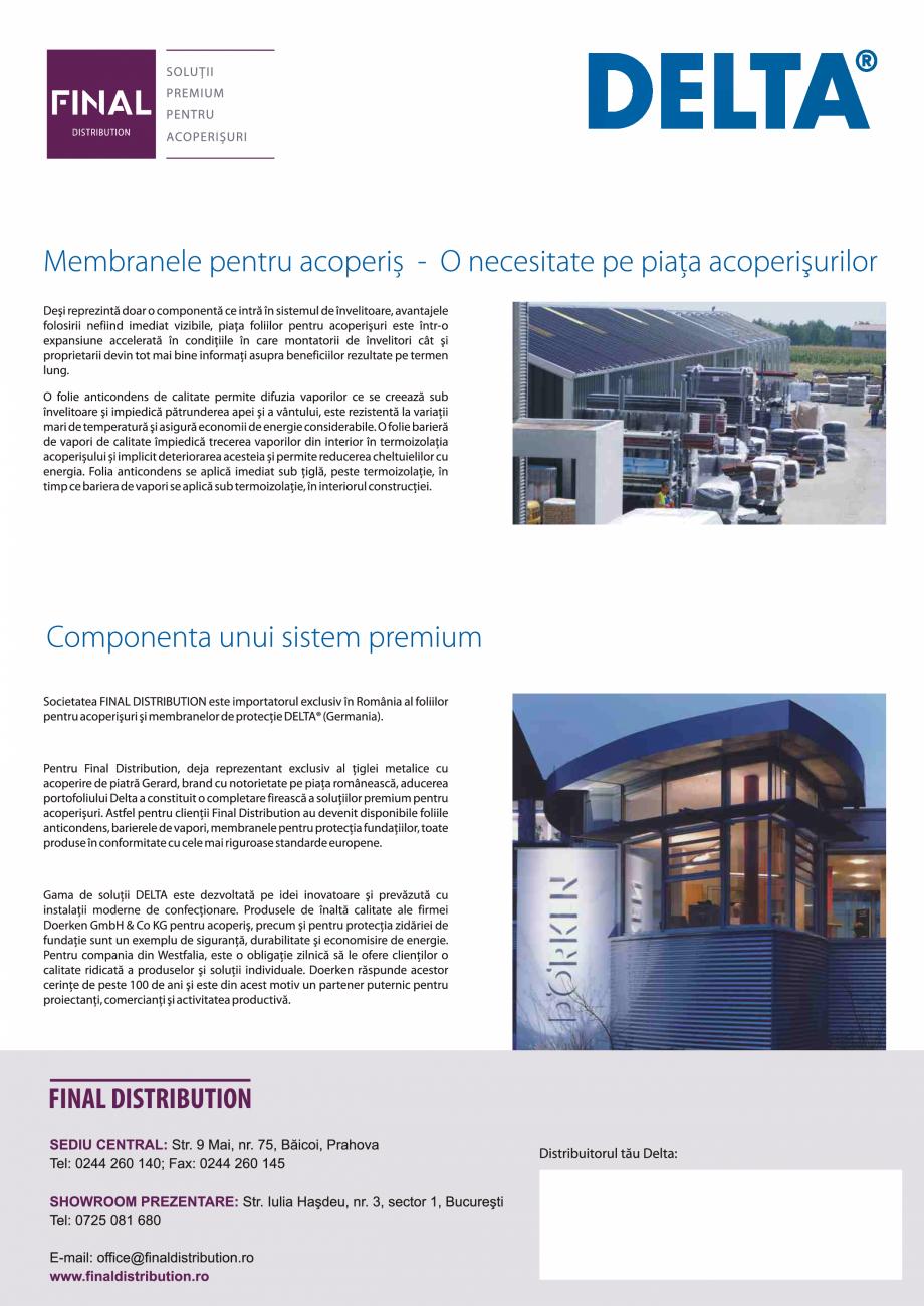 Pagina 6 - Folii anticondens pentru toate sistemele de acoperisuri DELTA VENT N, VENT S, FOXX, MAXX,...