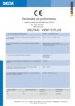Declaratie de performanta DELTA - VENT S PLUS