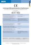 Declaratie de performanta  DELTA - TRELA