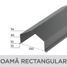Coama rectangulara - Tigla metalica cu aspect de ardezie sau sindrila NOVATIK | METAL