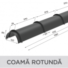 Coama rotunda - Tigla metalica cu aspect de ardezie sau sindrila NOVATIK | METAL