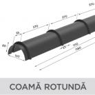 Coama rotunda - Tigle metalice  NOVATIK | METAL