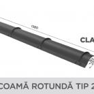 Coama rotunda tip 2 - Tigla metalica cu aspect de ardezie sau sindrila NOVATIK | METAL