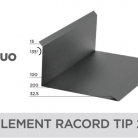 Element racord tip 2 - Țiglă metalică cu aspect de ardezie sau șindrilă NOVATIK | METAL