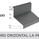 Racord orizontal la perete - Tigla metalica cu aspect de ardezie sau sindrila NOVATIK | METAL