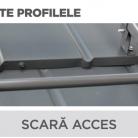 Scara acces - Tigla metalica cu aspect de ardezie sau sindrila NOVATIK | METAL