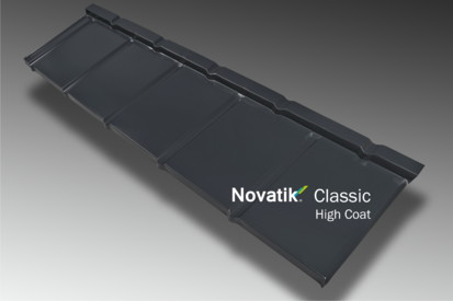 Paletar pentru tigla metalica / Profil Novatik Slate - Grey HIGH COAT