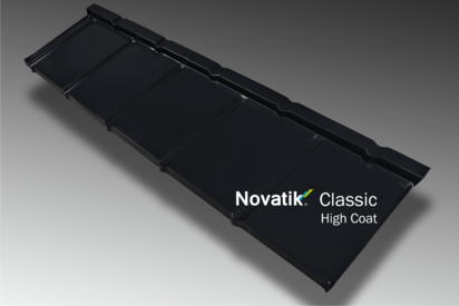 Paletar pentru tigla metalica / Profil Novatik Slate - Black 9005 HIGH COAT