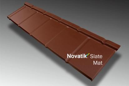 Paletar pentru tigla metalica / Novatik Slate - Brown MAT
