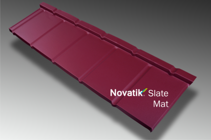 Paletar pentru tigla metalica / Novatik Slate - Burgundy MAT