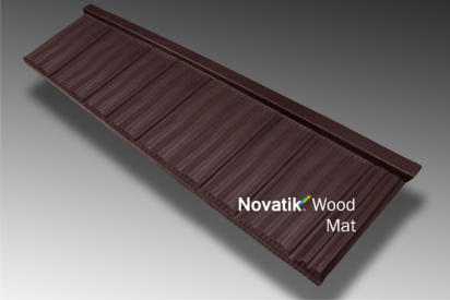 Paletar pentru tigla metalica / Novatik Wood - Brown MAT