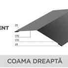 Coama dreapta - Tabla prefaltuita pentru acoperișuri fălțuite NOVATIK | METAL