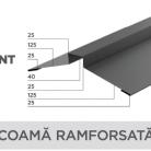 Coama ramforsata - Tabla prefaltuita pentru acoperișuri fălțuite NOVATIK | METAL