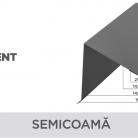 Semicoama - Tabla prefaltuita pentru acoperișuri fălțuite NOVATIK | METAL