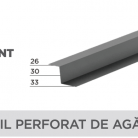 Profil perforat de agatare - Tablă prefălțuită pentru acoperișuri fălțuite NOVATIK | METAL