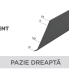 Pazie dreapta - Tabla prefaltuita pentru acoperișuri fălțuite NOVATIK | METAL
