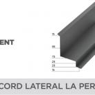 Racord lateral la perete - Tablă prefălțuită pentru acoperișuri fălțuite NOVATIK | METAL