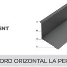 Racord orizontal la perete - Tablă prefălțuită pentru acoperișuri fălțuite NOVATIK | METAL