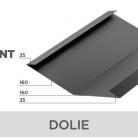 Dolie - Tablă prefălțuită pentru acoperișuri fălțuite NOVATIK | METAL