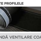 Banda ventilare coama - Tabla prefaltuita pentru acoperișuri fălțuite NOVATIK | METAL