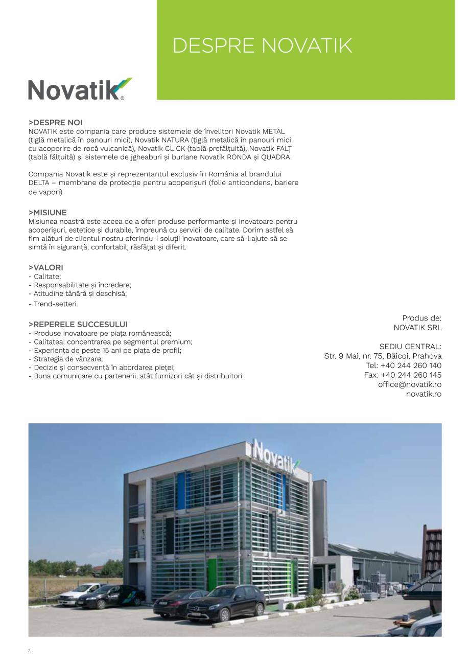 Pagina 2 - Catalog general de produse NOVATIK | METAL Catalog, brosura Romana