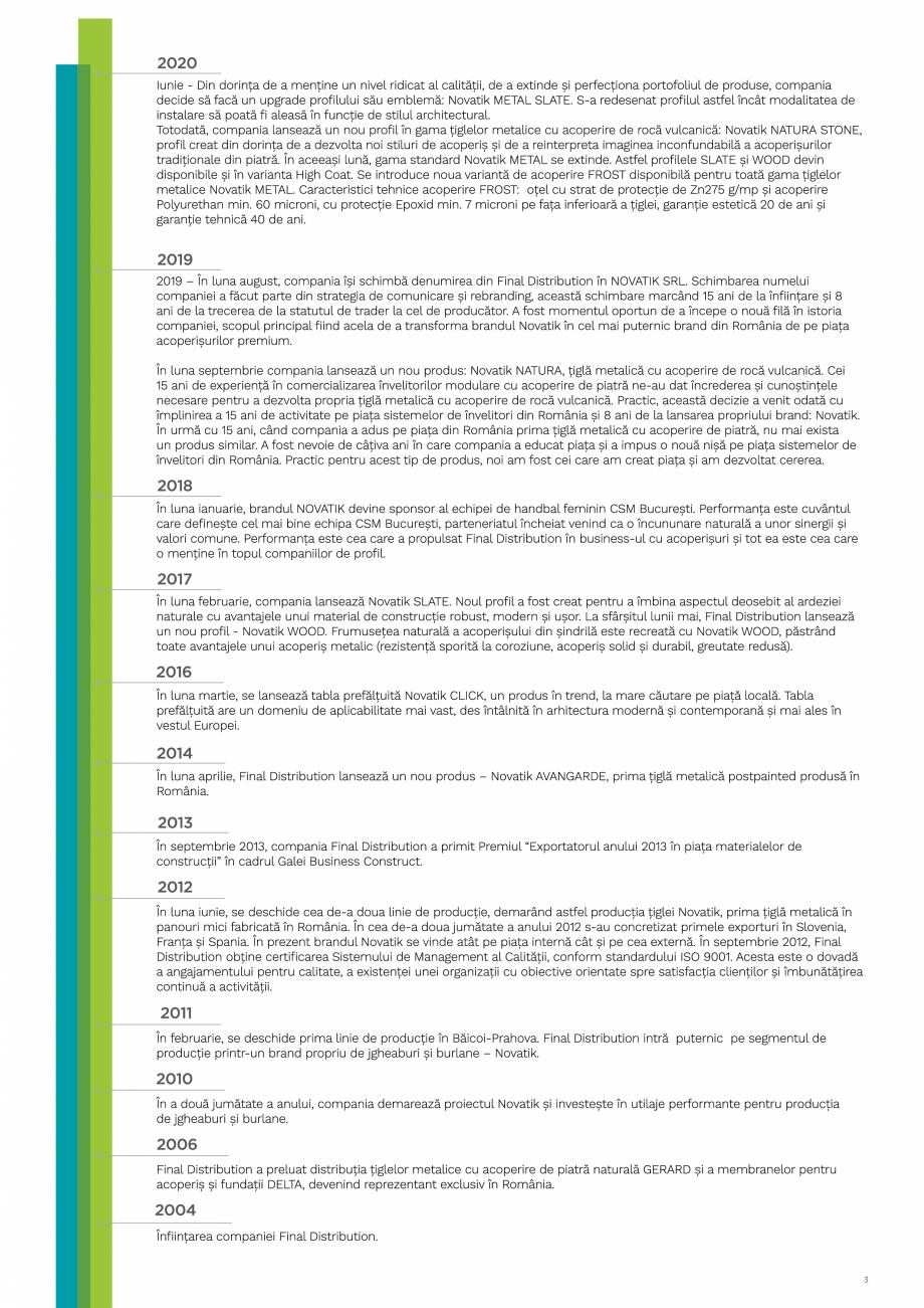 Pagina 3 - Catalog general de produse NOVATIK | METAL Catalog, brosura Romana