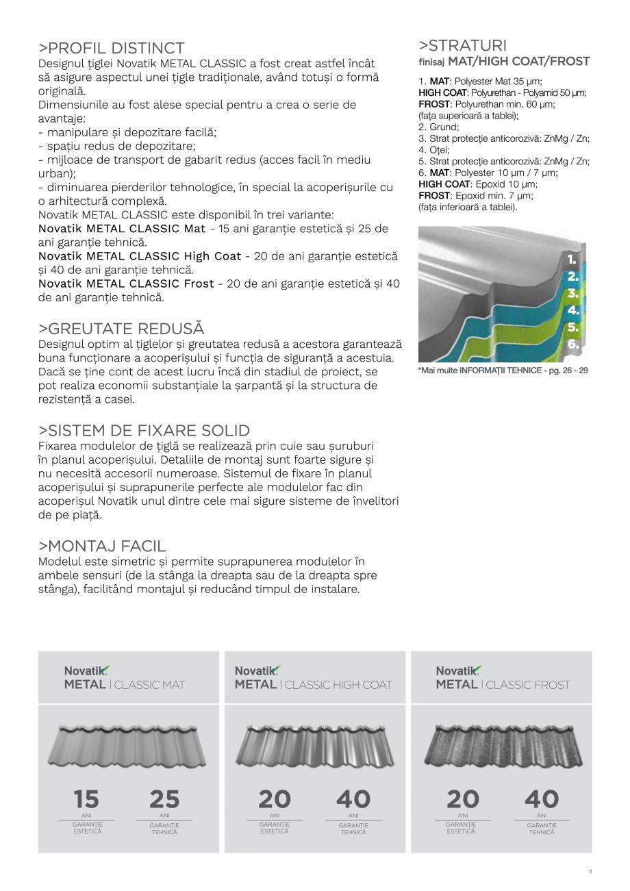 Pagina 11 - Catalog general de produse NOVATIK | METAL Catalog, brosura Romana