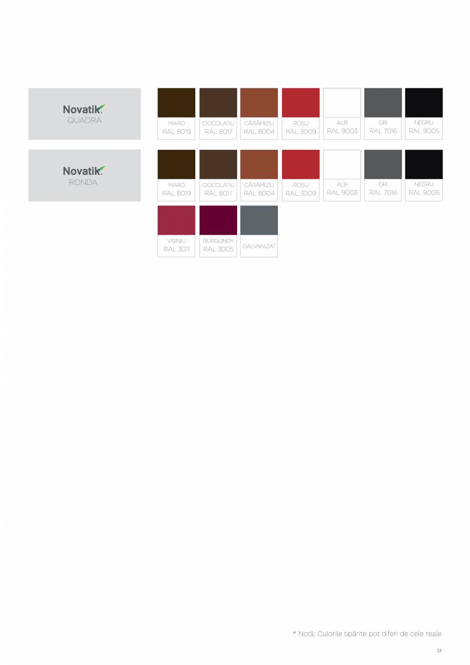 Pagina 23 - Catalog general de produse NOVATIK | METAL Catalog, brosura Romana
