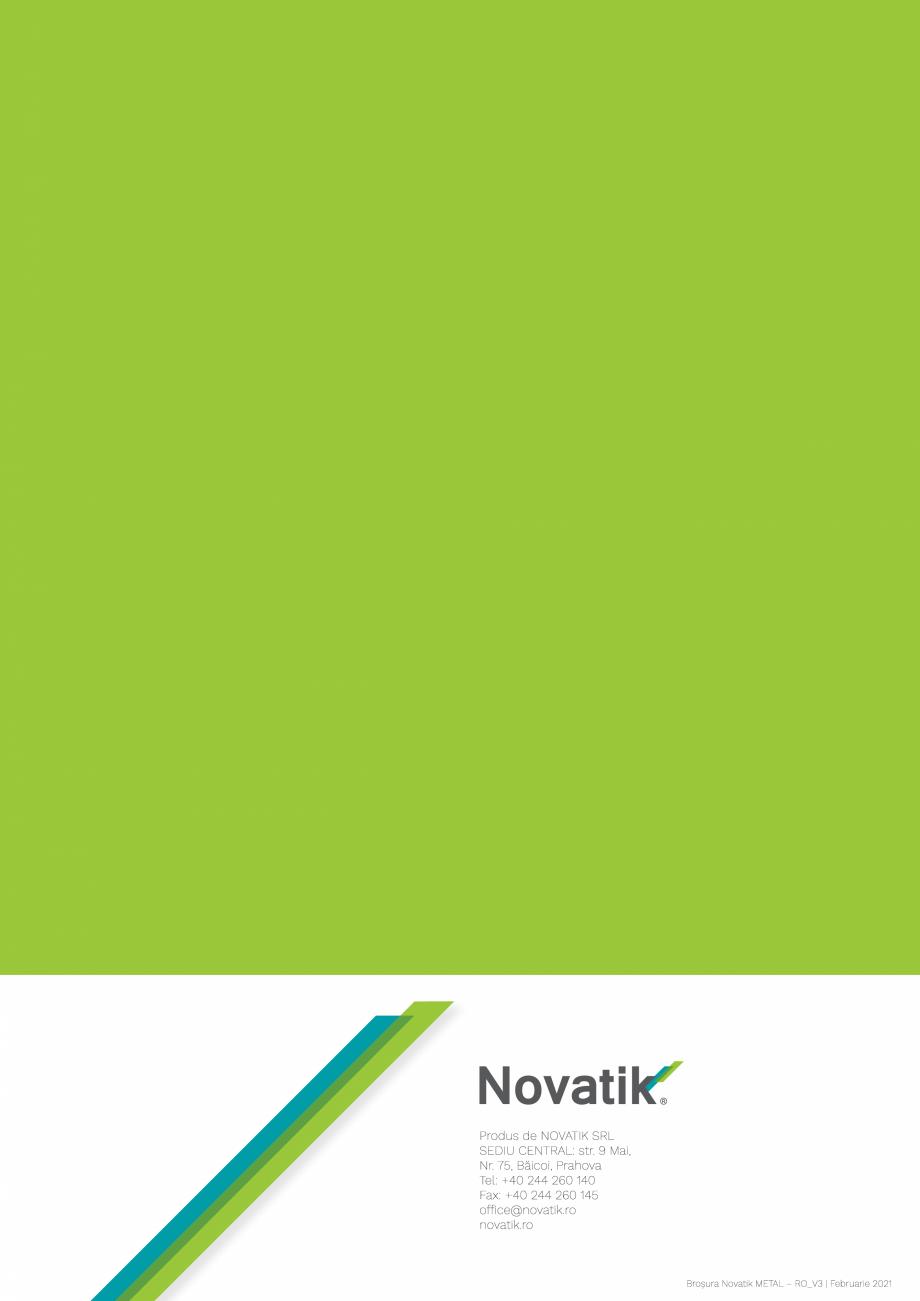 Pagina 32 - Catalog general de produse NOVATIK | METAL Catalog, brosura Romana