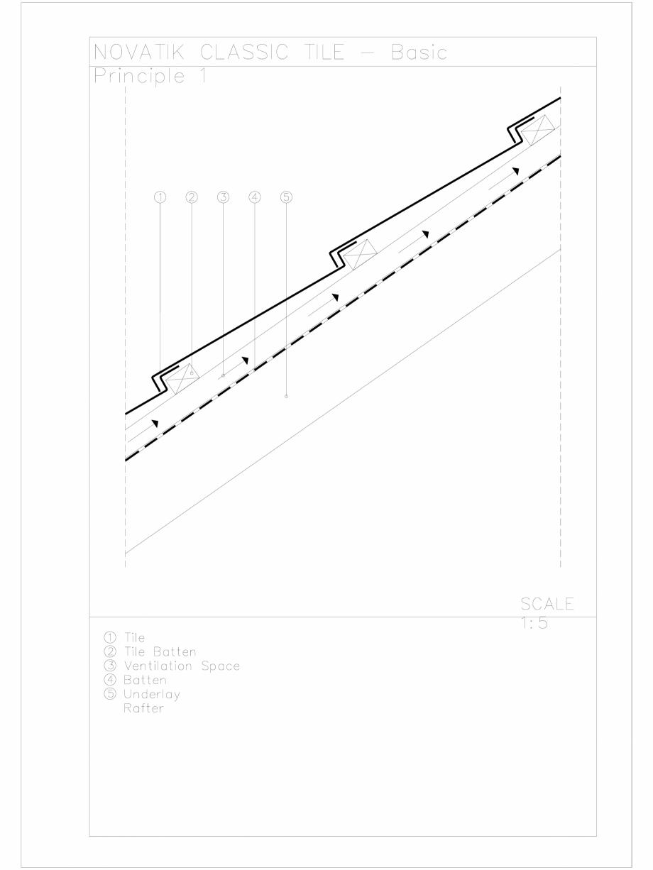 Pagina 1 - CAD-DWG Novatik Classic Tile _ 03 Basic Principle 1 Novatik NATURA Detaliu de produs
